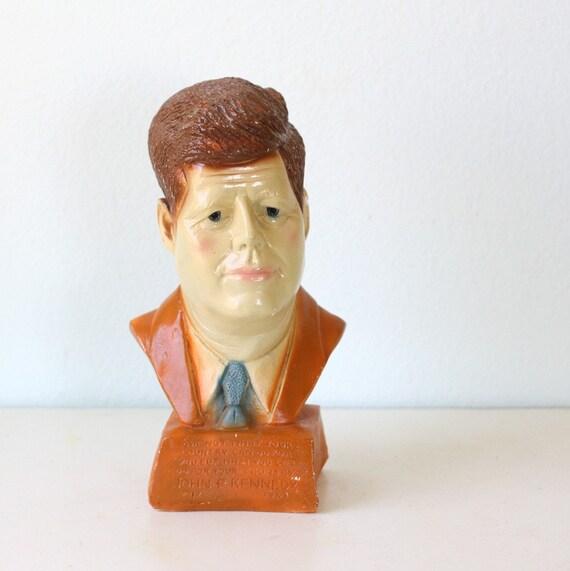 Vintage John F Kennedy Plaster Bust