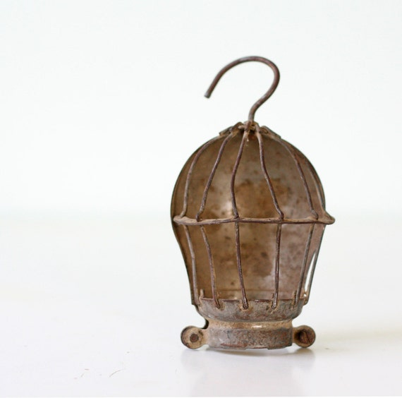 Industrial Cage Light Fixture
