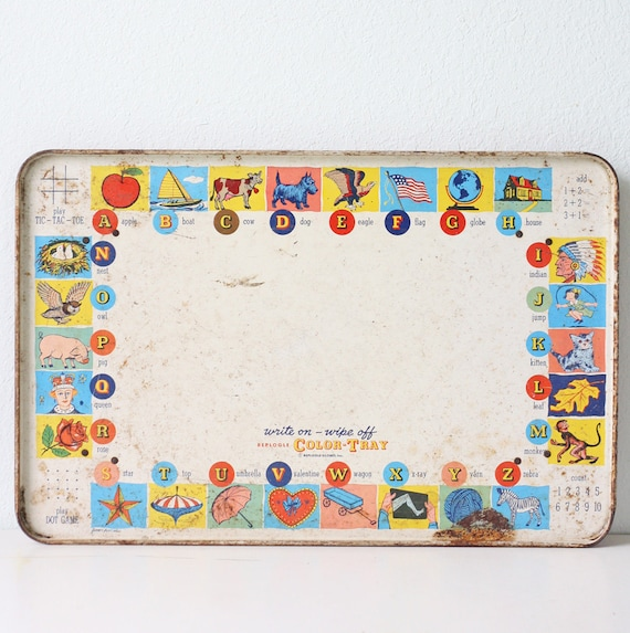 Vintage Alphabet Tray by Replogle Globes