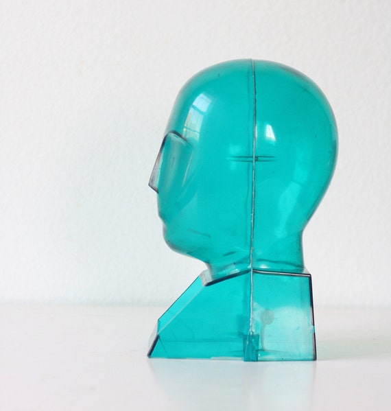 Vintage Aqua Head Form RESERVED