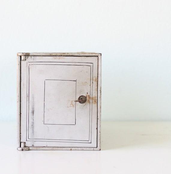 Vintage Lock Box Cabinet