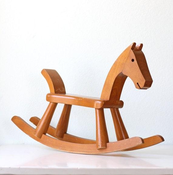 Mid Century Rocking Horse
