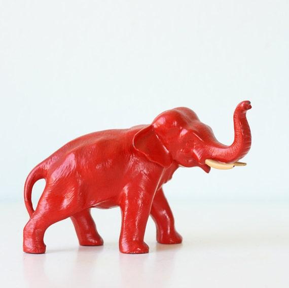 Vintage Red Elephant