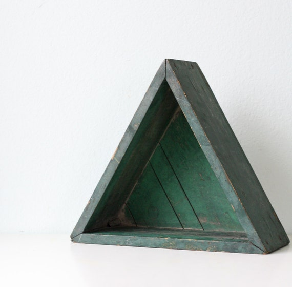 Vintage Green Triangle Box