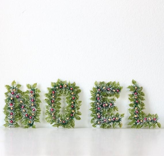 Retro Christmas NOEL Letters