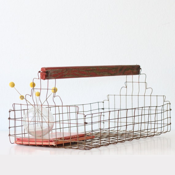 RESERVED Vintage Wire Basket