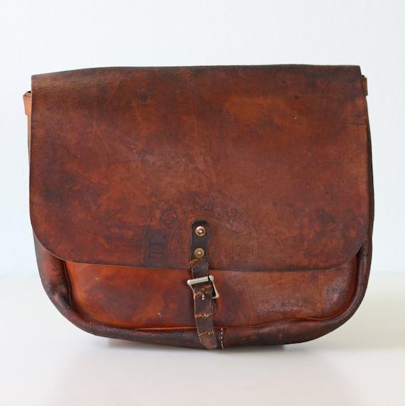Vintage US Mail Leather Bag