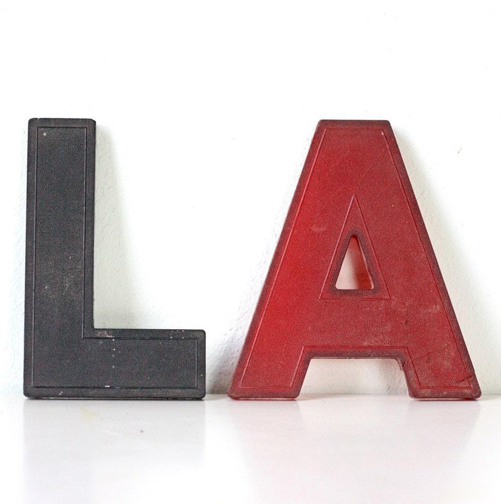 vintage plastic letters la With vintage plastic letters