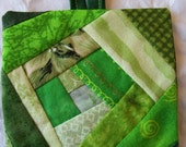 Crazy Quilt Ornament   Green 02