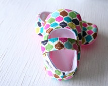 maryjane baby girl shoes toddler newborn velcro strap booties pink aqua slippers SWAG shower gift morocco beat
