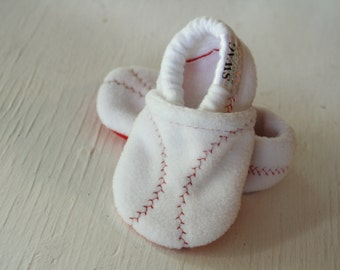 Baby Shoes Boy Girl BASEBALL Booties Toddler Infant Newborn Slippers Red White Soft Ball Sports Non Slip Soft Soled SWAG