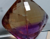RESERVED FOR ACABLE Genuine ametrine checker cut focal bead E