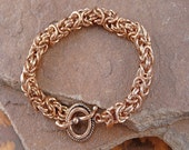 Chainmaille Kit - Genuine Copper 16g 4.5mm ID Byzantine Bracelet Kit