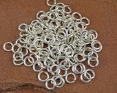 Sterling Silver Jump Rings - 100 18g 4mm Inner Diameter (6mm outer diameter)