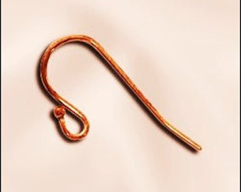 Copper Earwires - 72 genuine copper balled earwires