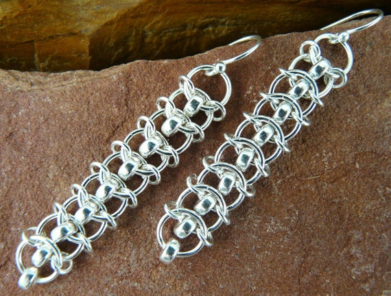 Centipede Chainmaille Earring Kit with Tutorial