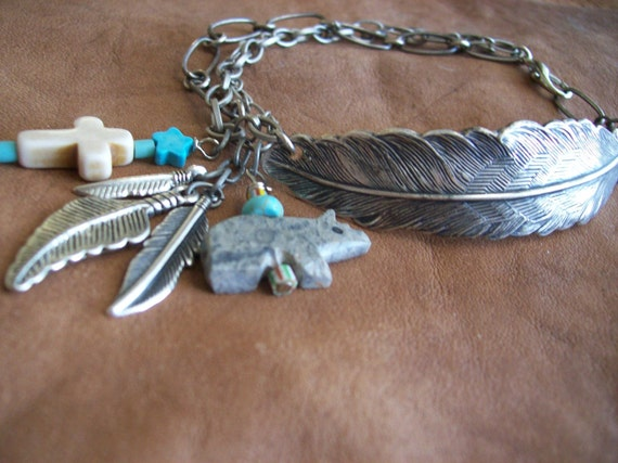 Grey Bear Indian Feather