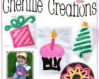 Chenille Creations  A Guide to Making Your Own Chenille and Using it Ebook Tuturial Pattern