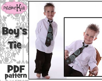 Boys Tie Pattern Ebook Teen Baby Sizes 6mths-10yrs Tutorial