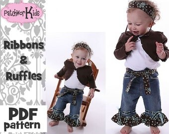 How to Embellish Jeans with Ribbons and Ruffles Pattern Ebook