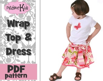 Wrap and Twirl Skirt Pattern for Girls and Baby