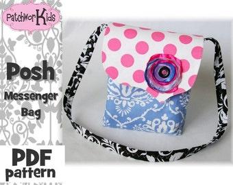 The Posh Messenger Bag Purse Handbag Ebook Pattern Tutorial