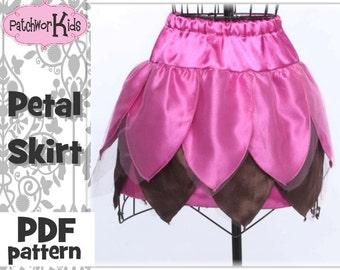 Petal Twirl Skirt PDF Ebook Pattern Sizes 6mths-8yrs Easter