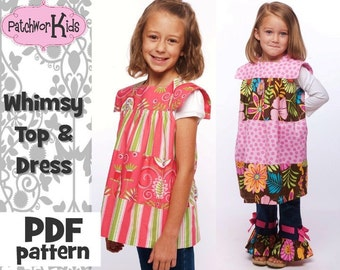 Whimsy Top Dress Sizes 6mths-8yrs Pattern