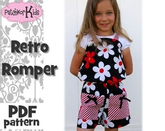 The Retro Romper Sizes 6mths-6yrs Pattern