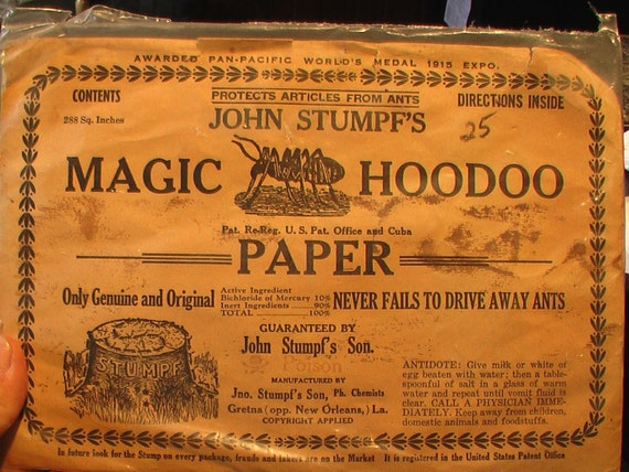 Old Graphics for Collage or..  Magic HooDoo Ant Paper 1915