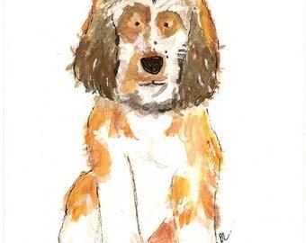 Custom Pet Portrait- watercolor 5X7