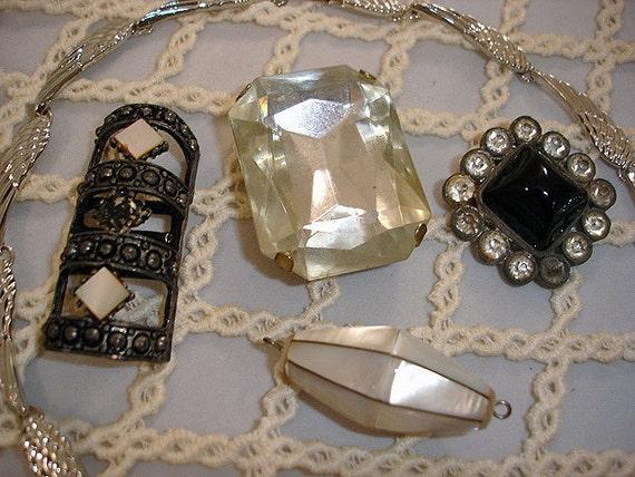 Vintage Rhinestone MOP and Broken Jewels Destash Lot