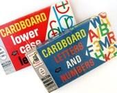 1960's Vintage CARDBOARD ALPHABET Letters - Set of 2 Boxes