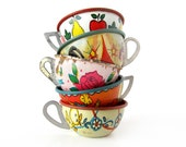 Tin Toy Teacups - INSTANT COLLECTION - Set of 5