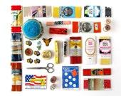 Vintage Sewing Basket Full 'o Crafty Notions