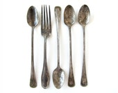 Spoons 'n a Fork - Set of 5 Vintage Silverplate Utensils
