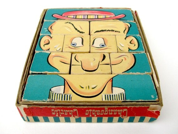 1948 Wooden CHANGEABLE CHARLIE Puzzle