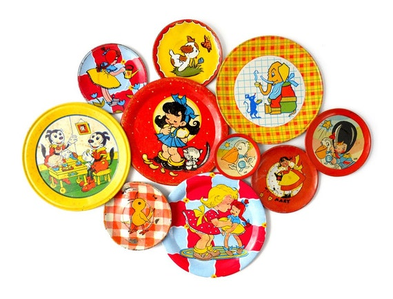 An Instant COLLECTION of TIN SAUCERS - Set of 10 Pieces