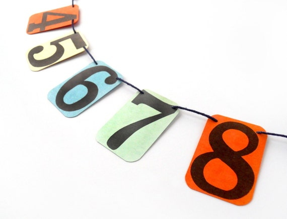 Numbers GARLAND from Vintage Flashcards