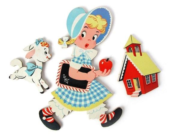 Nursery Rhyme - WALL DECOR - Mary Had A Little Lamb