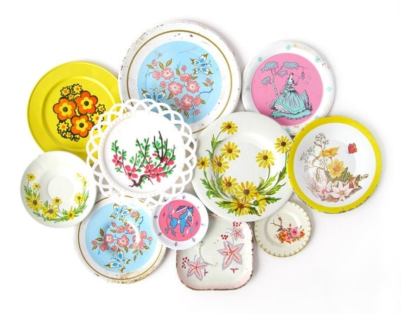 Summer Garden - FLOWER SAUCERS - Instant Collection of Toy Saucers, Set of 11 Pieces