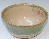 Variegated Blue Green  Pottery Bowl