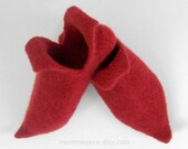 Elf Shoes - Felted Wool Elf Slippers - Custom Made Slippers (LARGE adult sizes, EUR 44 and up)
