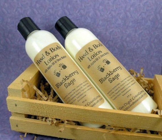 BLACKBERRY SAGE Body Lotion with Jojoba Oil and Shea Butter - 8oz - Clearance ((Last One))