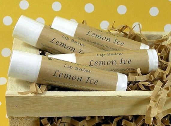 LEMON ICE Lip Balm with Vitamin E - .15oz tube (lemon, menthol crystals) - CLEARANCE