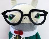 Folksy Nerd Rabbit - Made to Order