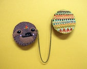 Embroidered Sloth Chain Brooch