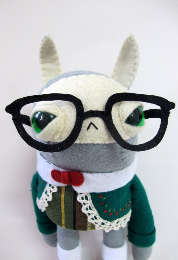 Folksy Nerd Rabbit - Made to Order
