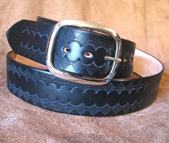custom listing for lh wide leather belt navy blue by