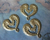 2 PC Brass Angel Wing Drop Pendant/ Connector - 0005V